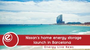 Nissan's energy storage tech launch in Barcelona