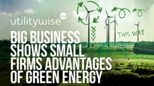 Big business shows small firms advantages of green energy