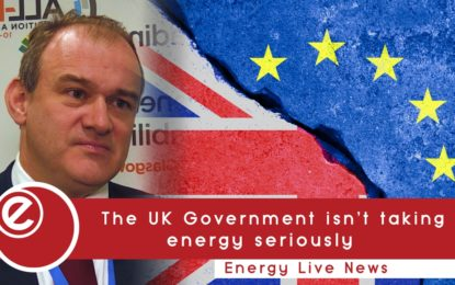 'UK Government not taking energy seriously'
