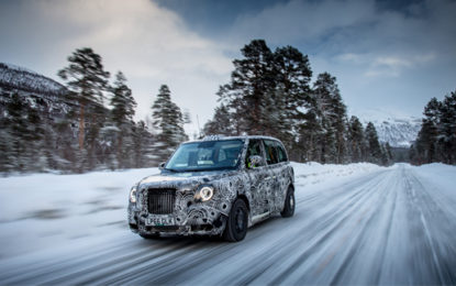 London's new electric black cab tested in Arctic Circle