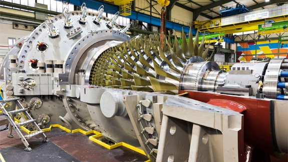 Siemens will replace the existing gas turbine at King's Lynn power station with a new one. Image: Siemens