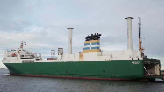 The rotor sail technology installed on a ship.  Image: Norsepower