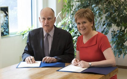 Scotland-California join forces to fight climate change