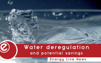 Water market deregulation could cut costs by a fifth