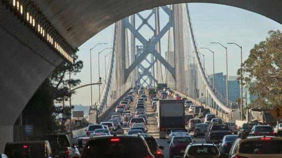 Traffic in California.  Image: Shutterstock