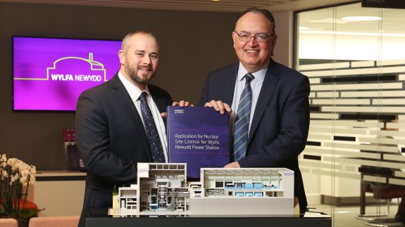L-R Andy Bevan, Nuclear Site Licence Manager and Anthony Webb, Safety and Licensing Director.  Image: Horizon