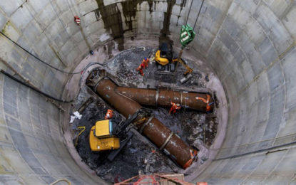 Largest Scottish wastewater tunnel reaches halfway stage