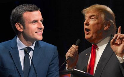 Macron tells Trump he will back Paris climate deal