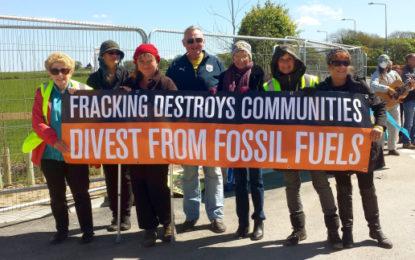 Divestment protest kicks off at fracking facility