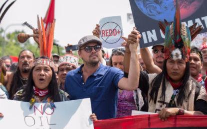 Leonardo DiCaprio joins 200k green protestors in Washington