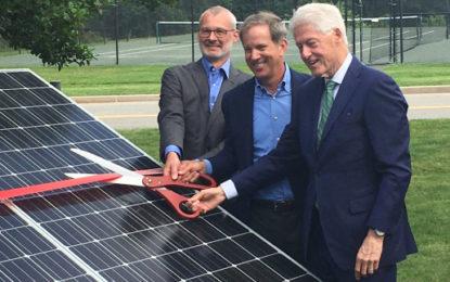 Bill Clinton opens 2.7MW US solar plant