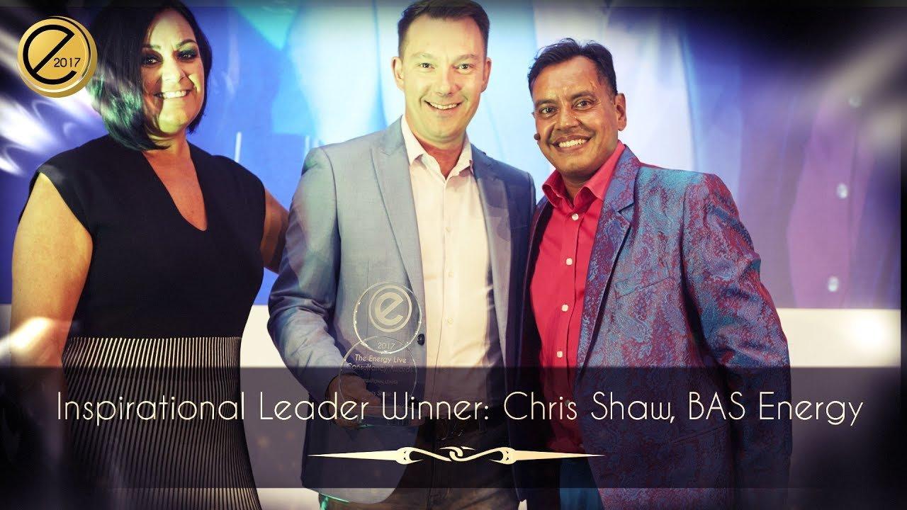 Inspirational Leader Winner: Chris Shaw, BAS Energy
