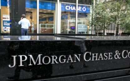 JP Morgan Chase to go 100% green by 2020