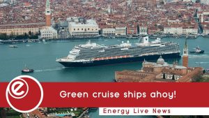 Cruise ship converted to run on LNG in port