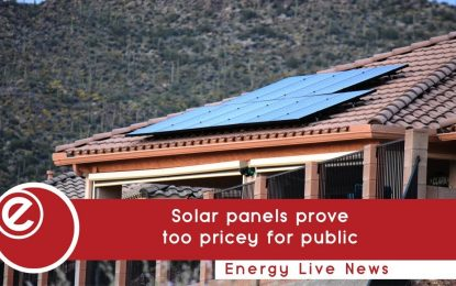 Cost of solar 'is main reason for slow public adoption'