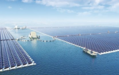 Solar floats to the top with largest site of its kind
