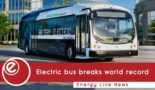 World record breaking journey for electric bus