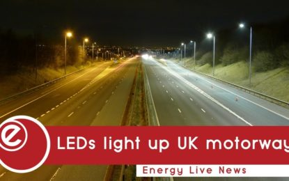 LEDs light up UK motorway