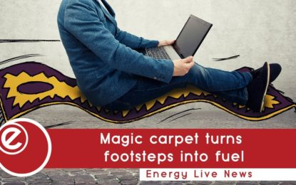 Magic carpet turns footsteps into fuel