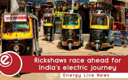 Rickshaws race ahead for India's electric journey