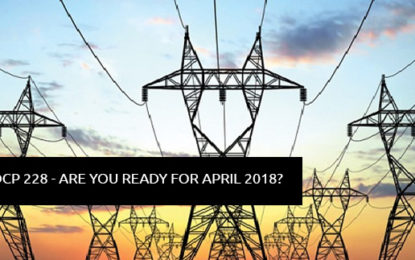DCP 228 – What you need to know for April 2018