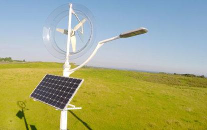 Sun and wind power high-tech lamp posts