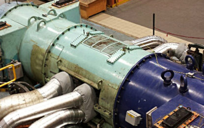 First radial steam turbine fixed outside Europe