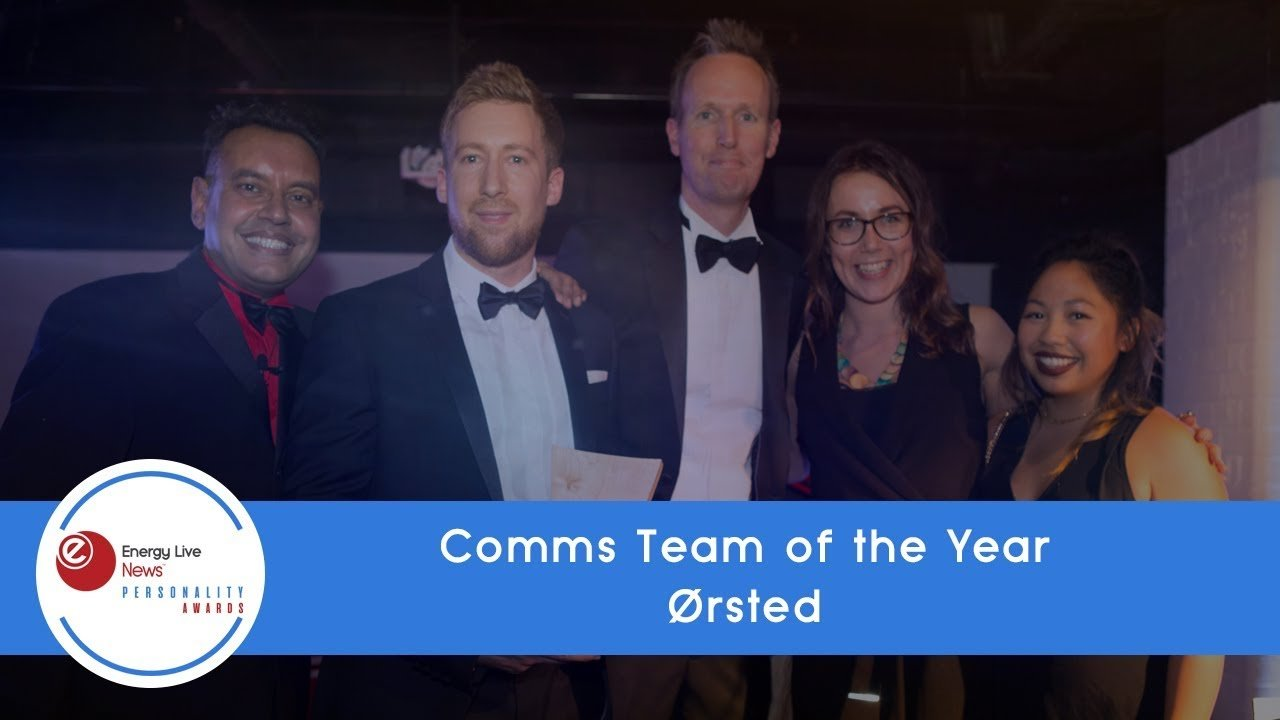 Ørsted wins Comms Team of the Year