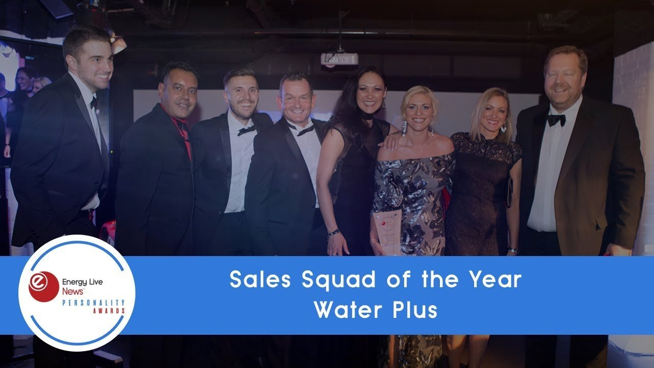 Water Plus wins Sales Squad of the Year