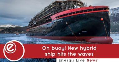Oh buoy! New hybrid ship hits the waves