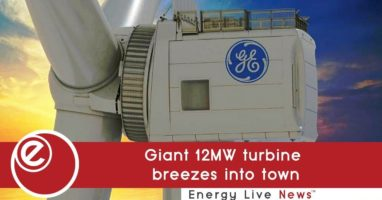 Giant 12MW turbine breezes into town