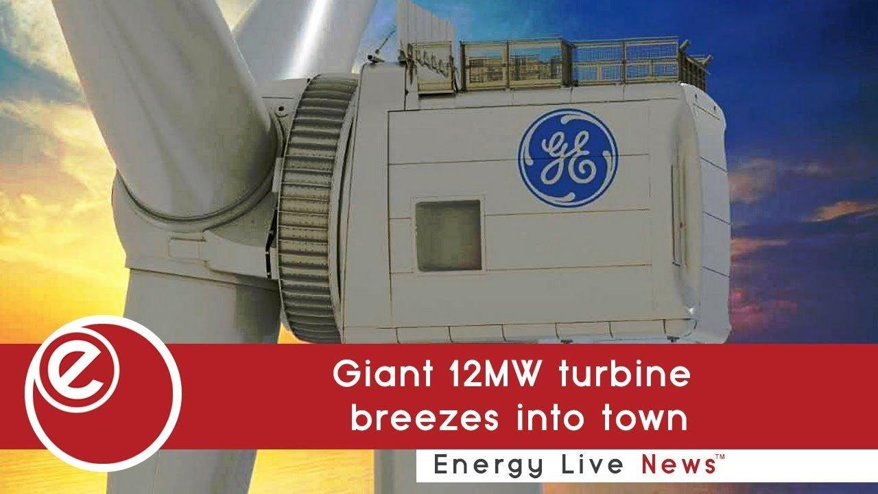 Giant 12MW turbine breezes into town