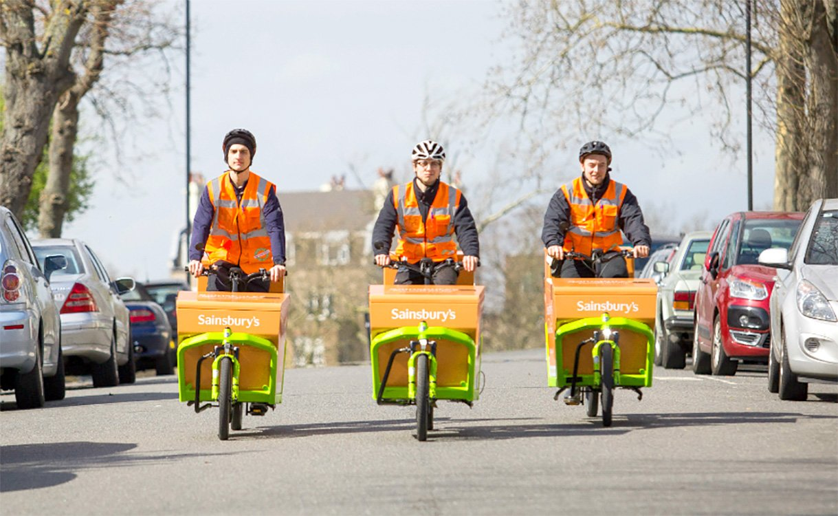 Sainsbury's trials electric bike deliveries in London