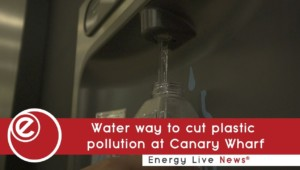 Water way to cut plastic pollution at Canary Wharf