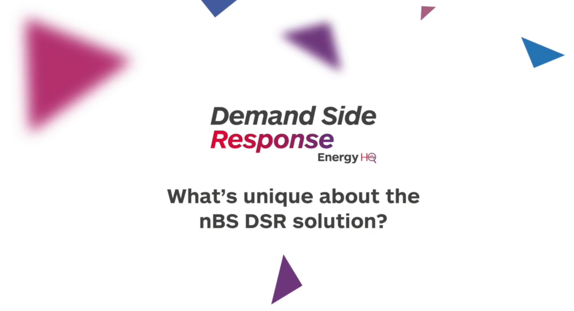What's unique about the nBS DSR solution?