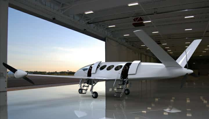 Electric plane from Eviation in hanger