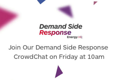Join Our Demand Side Response CrowdChat on Friday at 10am