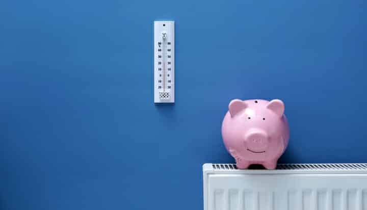 Piggy bank on radiator