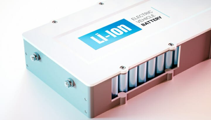 A lithium ion battery unit