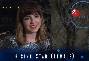 Robyn Lucas picks up the Rising Star (Female) award