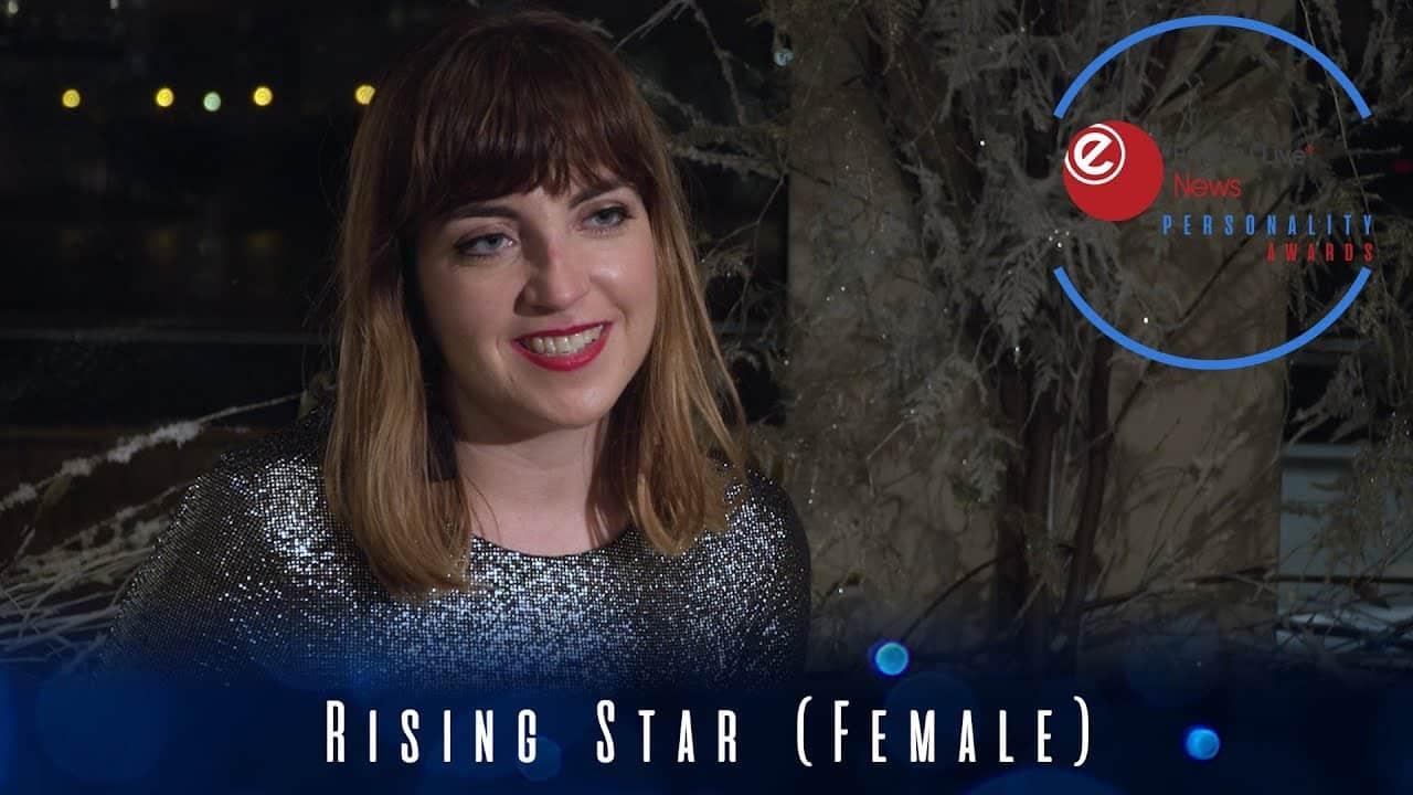Robyn Lucas picks up the Rising Star (Female) award