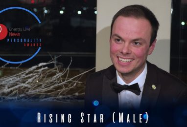 Oliver Kernaghan grabs the Rising Star (Male) award