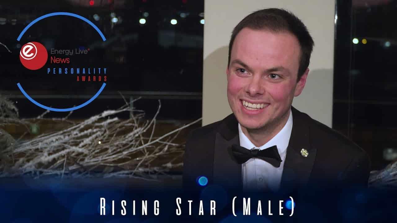 Oliver Kernaghan grabs the Rising Star (Male) award