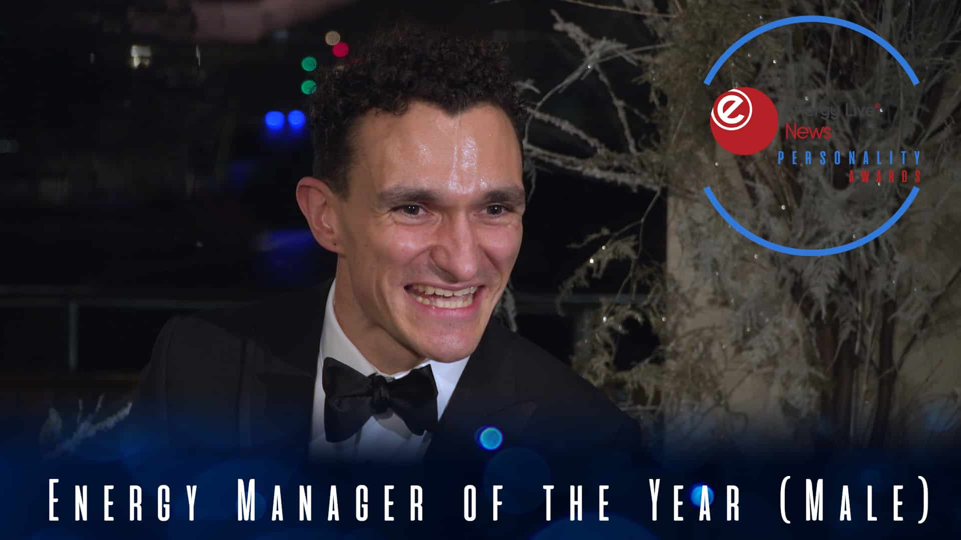 Tom Parrott takes the Energy Manager of the Year (Male) award