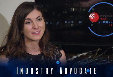 Alessandra De Zottis takes the Industry Advocate award