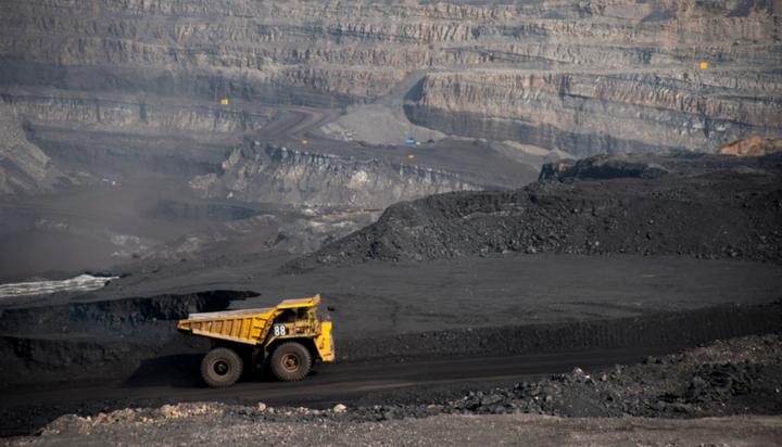 Coal truck in mine
