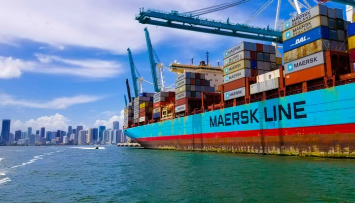 Maersk freight ship
