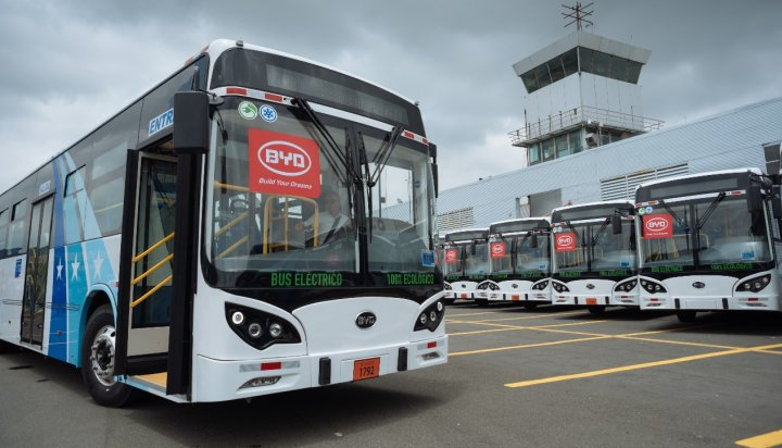 The new electric buses in Ecuador