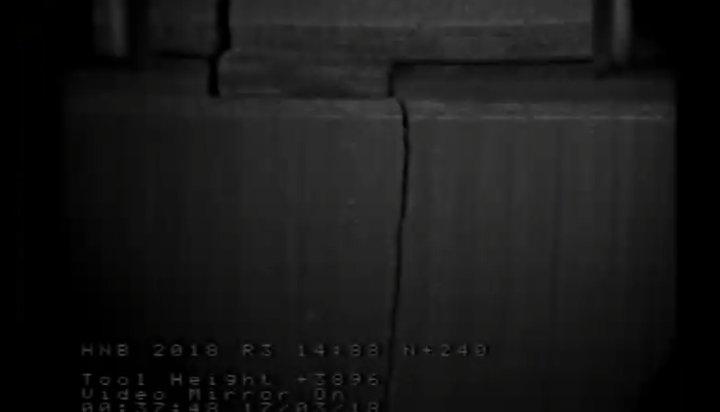 Cracks in the graphite bricks