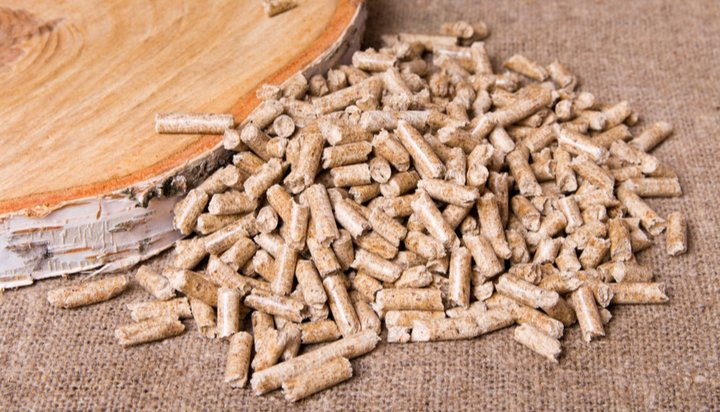 Biomass wood chippings